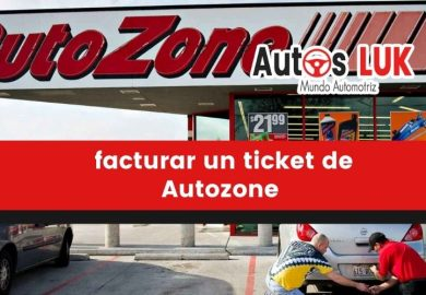 ¿Cómo puedo facturar un ticket de Autozone?