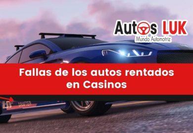 Fallas mecánicas más comunes de los autos rentados en casinos